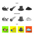 design of natural and disaster icon set of vector image vector image