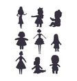 Doll girl toy character vector image