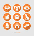 domestic cute animals logo collection vector image vector image
