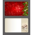 Elegant Christmas Card Set vector image vector image
