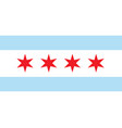 flag chicago vector image