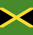 flag jamaica flat icon vector image vector image