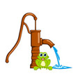 frog and water pump design isolated on white vector image vector image