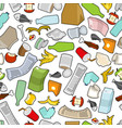 garbage texture rubbish seamless pattern trash vector image vector image