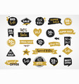 gold and black modern hand drawn stickers and tags vector image vector image