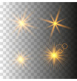 gold glowing light set vector image vector image