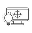 graphic design computer bulb idea creativity vector image vector image