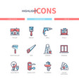 home repair - line design style icons set vector image