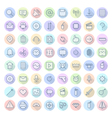 icons line rounded ui vector image vector image