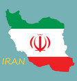 iran republic flag map vector image vector image