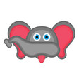 isolated cute elephant avatar vector image vector image