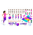 isometrics create your athlete large set emotions vector image vector image