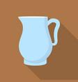 jug icon flat style vector image vector image