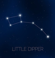 Little Dipper in night sky vector image vector image