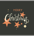 merry christmas lettering design happy new year vector image vector image