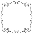 ornate frame on a white background vector image vector image