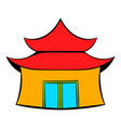 pagoda icon cartoon vector image vector image