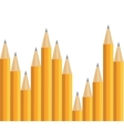Pencils on white vector image vector image