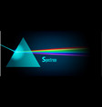 physics prism eps10 vector image