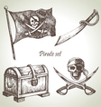 Pirates set hand drawn vector | Price: 1 Credit (USD $1)
