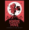 poster for horror film night horror movie vector image