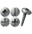 screw and nailheads in different designs vector image