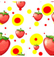 seamless background with fresh strawberries vector image