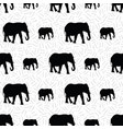 seamless pattern created from elephant silhouettes vector image vector image