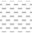 seamless pattern with gray glasses vector image
