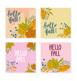 set autumn theme templates for social media vector image
