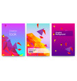 set covers abstract geometric surfaces vector image vector image