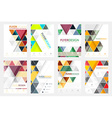 Set of flyer design with geometric pattern vector image