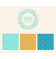 set of logo design templates seamless patterns and vector image vector image
