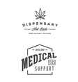 Set of Medical Cannabis Marijuana Sign or Label vector image vector image