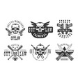 set of original emblems related to criminal vector image vector image