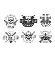 set of original emblems related to criminal vector image