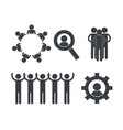 set pictogram people group community vector image