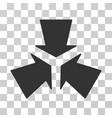 shrink arrows icon vector image vector image