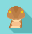 snake head icon flat style vector image