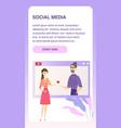 social media online dating responsive banner vector image