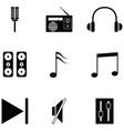 sound icon set vector image vector image