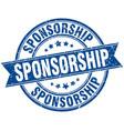 sponsorship round grunge ribbon stamp vector image vector image
