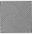 twisted square vector image vector image
