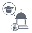university icons set vector image vector image