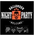 Vintage Typography Halloween Badges Logos vector image vector image
