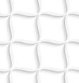 White diagonal wavy net seamless pattern vector image vector image