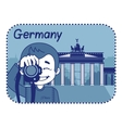 with Brandenburg Gate in Berlin vector image