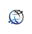 world logo template vector image vector image