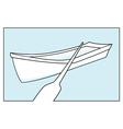 row boat vector image