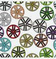 seamless background with car alloy wheels vector image